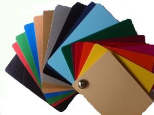 färgade kort