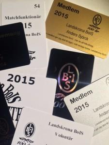 Landskrona BOIS producerar medlemskort, funktionärskort, sponsorkort mm