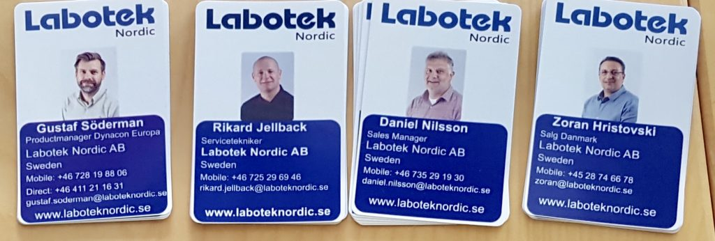 Proffsiga visitkort/id-kort hos Laboteket
