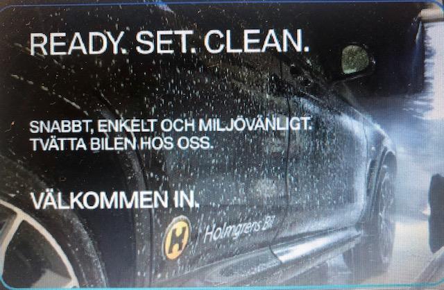 Tvättkort till Holmgrens bil
